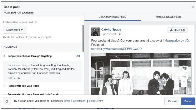 Facebook ad marketing